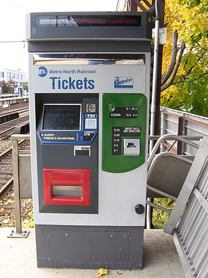 Ticket machine - Image: Metro North RR Ticket Machine 11172007