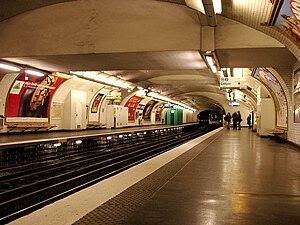 Anatole France (Paris Métro) - Image: Metro de Paris Ligne 3 Anatole France 01