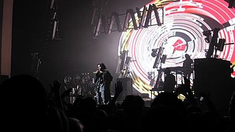 "Born Free (M.I.A. song) - M.I.A. performing ""Born Free"" during the Maya Tour at the Brixton Academy in London"