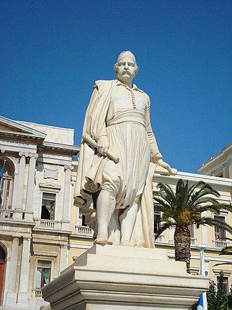 Georgios Bonanos - Statue of Andreas Miaoulis, Hermoupolis by Bonanos