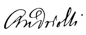 Michał Elwiro Andriolli - Personal signature of Andriolli.