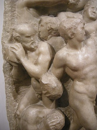 Battle of the Centaurs (Michelangelo) - Image: Michelangelo, centauromachia, 1492 ca. 10