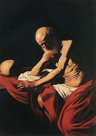 1605 in art - Image: Michelangelo Merisi da Caravaggio St Jerome WGA04157