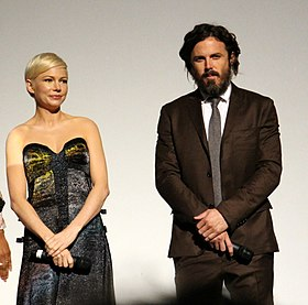 Michelle Williams and Casey Affleck at the Manchester by the Sea premiere (30199719155) (cropped).jpg