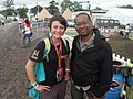 Michelle and Lizo Mzimba Glastonbury 2011.jpg