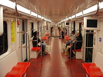 Milan Metro - Inside a M1 Leonardo train