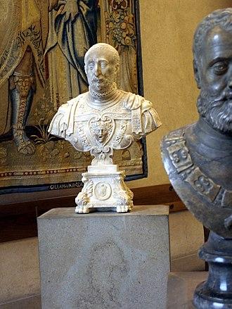 Ottavio Farnese, Duke of Parma - Ottavio Farnese, bust in Milan, Sforza Castle.
