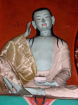 A statue of Milarepa.