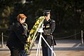 Minister for Defence Senator the Hon Marise Payne of Australia lays a wreath at the Tomb of the Unknown Soldier in Arlington National Cemetery (21574338743).jpg