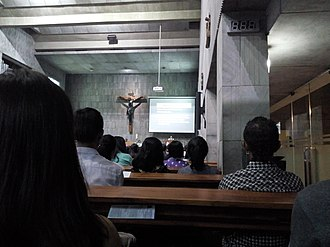 Christian liturgy - Scripture readings at  Gereja Santa, Indonesia