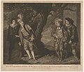 Miss Younge, Mr. Dodd, Mr. Love, and Mr. Waldron, in th Characters of Viola, Sir Andrew Aguecheek, Sir Toby Belch, and Fabian (Shakespeare, Twelfth Night, Act 3, Scene 4) MET DP859552.jpg