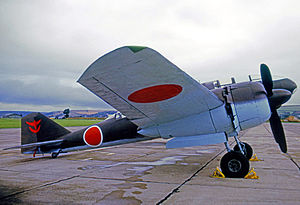 Mitsubishi Ki-46 - The surviviving Mitsubishi Ki-46-III displayed at RAF Chivenor in 1971