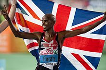 Mo Farah, Olympic gold medallist at London 2012