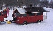 Mobile sauna umgebauter vw bus helsinki