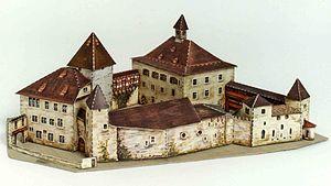 Kyburg (castle) - Image: Modell Kyburg