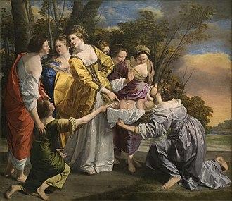 Finding of Moses - Orazio Gentileschi, Prado, 1633, one of two versions