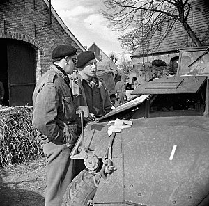 Christopher Vokes - Brigadier Robert Moncel (left) and Major General Christopher Vokes, 10 April 1945.