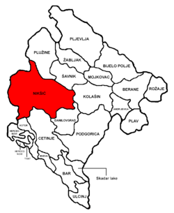Nikšić Municipality in مونٹینیگرو