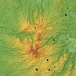 Monts Dore Volcano Relief Map, SRTM-1.jpg