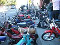 Mopeds outside 1977 01.jpg