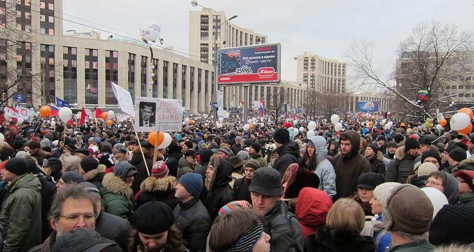 Moscow rally 24 December 2011, Sakharov Avenue -1