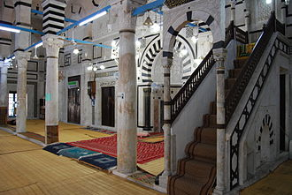 Hammouda Pacha Mosque - View from the inside of the mosque