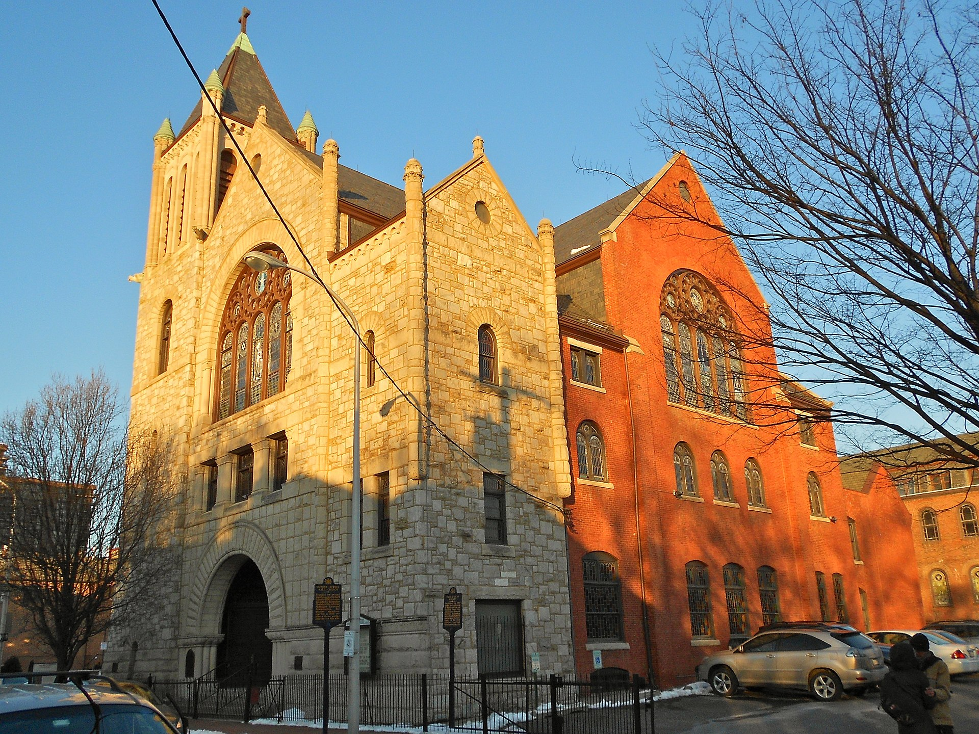 Mother Bethel A.M.E. Church listed on the NRHP on March 16, 1972 at 419 South 6th Street in the Society Hill neighborhood of Philadelphia/ Creative Commons