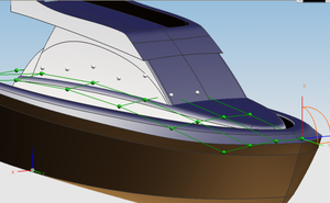 Non-uniform rational B-spline - Motoryacht design.