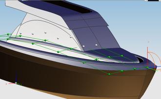 Non-uniform rational B-spline - Motoryacht design.