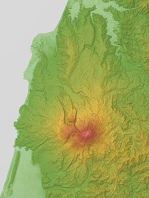 Mount Chōkai - Image: Mount Chokai Relief Map, SRTM 1