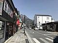 Mount Yufudake and Yufumi-dori Street near Yufuin Station.jpg