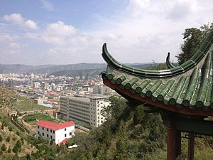 Anding District, Dingxi - Image: Mountain top view, behind Dingxi Teachers' College