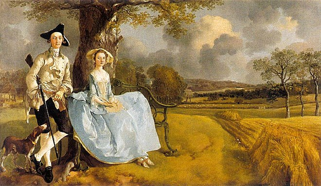 Mr and Mrs Andrews, de Thomas Gainsborough, National Gallery (Londres), 1748-49.