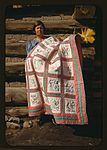 Mrs. Bill Stagg with state quilt 1a34113v.jpg