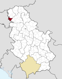 Location of the municipality of Bač within Serbia