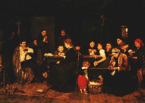Mihály Munkácsy - Pluckmakers (Tépéscsinálók) by Mihály Munkácsy (1871)