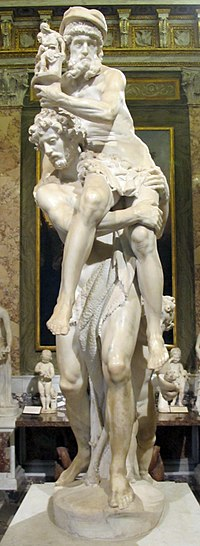 Museo borghese, sala del gladiatore, g.l. bernini, enea, anchise e ascanio, 1618-20, 02.JPG