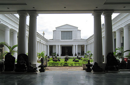 The Peristylia hall in National Museum of Indonesia in Jakarta, the largest and one of the oldest museums in Indonesia Museum Nasional Courtyard.jpg
