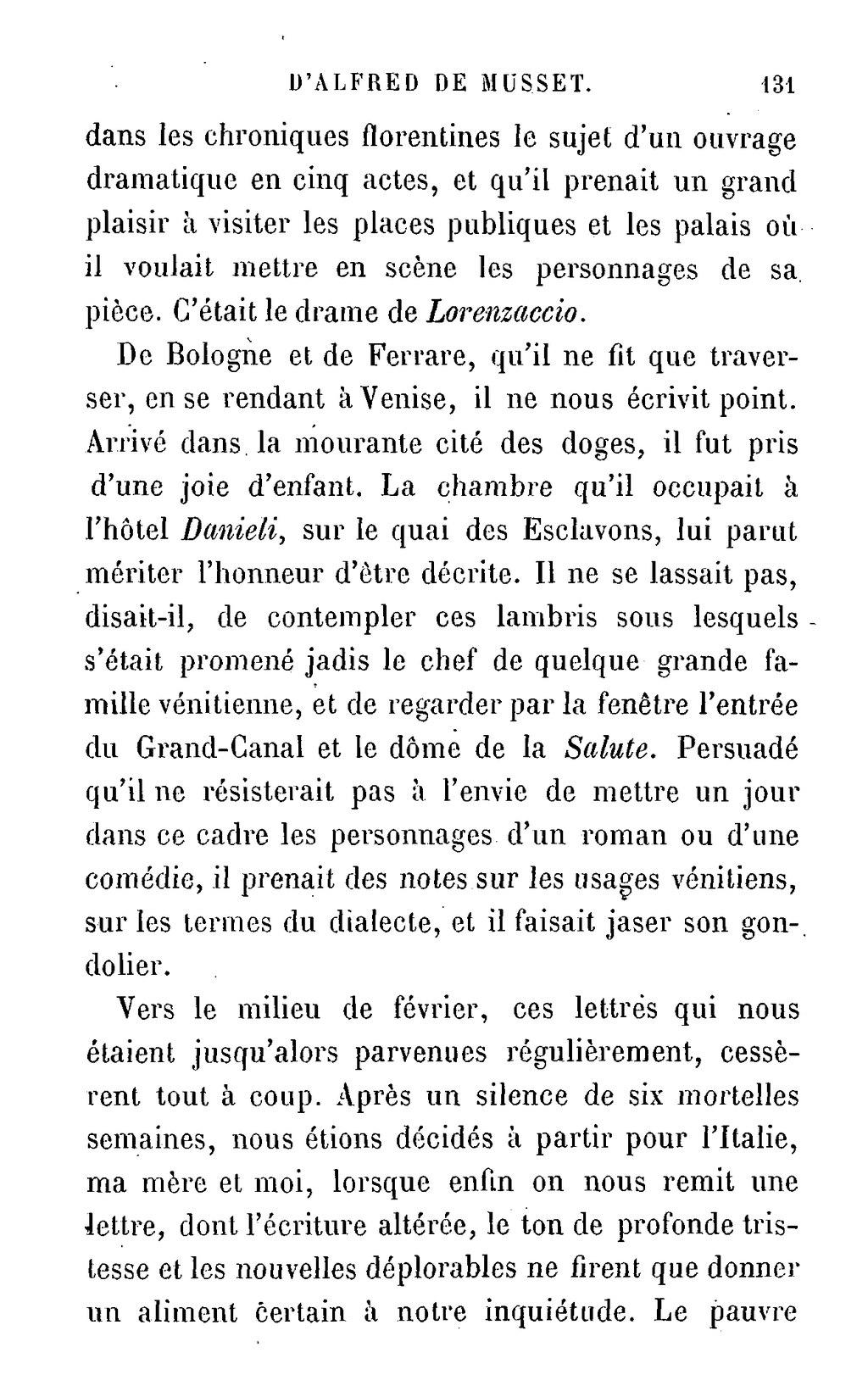 Pagemusset Biographie Dalfred De Musset Sa Vie Et Ses