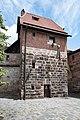 Nürnberg, Stadtbefestigung, Mauerturm Rotes P 20170616 002.jpg