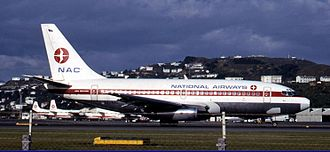 New Zealand National Airways Corporation - NAC Boeing 737-200 at Wellington Airport in 1970