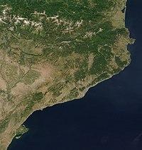 Imagen de Cataluña desde un satélite de la NASA