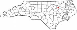 Tarboro, North Carolina - Image: NC Map doton Princeville