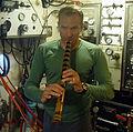 NEEMO 15 David Saint-Jacques flute.jpg