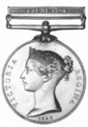 Military General Service Medal - The Naval General Service medal with a obverse of Queen Victoria