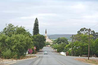 Bonnievale, Western Cape - Church street in Bonnievale