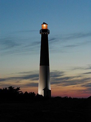 English: Barnegat Lighthouse in Barnegat Light...