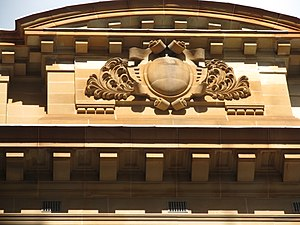 Department of Education building - Image: NSW Dept Education Building Decorative Detail