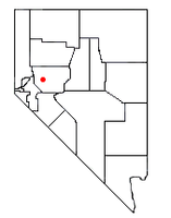 Location of Fallon Station, Nevada