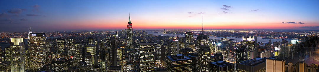 Panorama över New York.